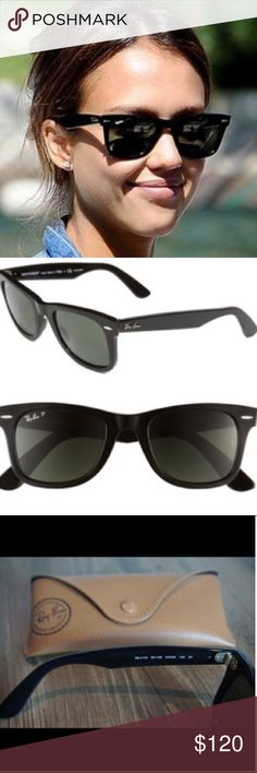 Black RayBan Wayfarer Classic Polarized Selling a pair of pretty new RayBans, Green Classic G-15. There are no visible scratches on the lenses. Were used just a few times, here's a link to the exact pair: http://www.ray-ban.com/usa/mobile/sunglasses/RB2140%20UNISEX%20093-original%20wayfarer%20classic-black/805289126591?category_Id=332608 Ray-Ban Accessories Glasses