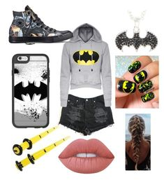 """""""BATMAN DAY"""" by fashionalldayeveryday on Polyvore featuring Converse, Casetify and Lime Crime"""