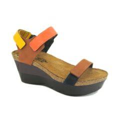 Naot Miracle Platform Sandals - Brown Multi #naot #platform #sandals