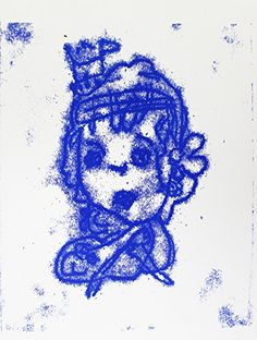 "Princess (Positive)   Princess (Positive) Single layer monoprint by artist Amanda Prasad. Image dimensions are: 8.5"" x 10.5"", overall paper size is 11"" x 15"" (including white borders not shown). Our artists' work is handmade; as a result, there may sometimes be marks left by art materials/mediums in the margins or in the back of the work.  http://www.finelifeart.com/princess-positive/"