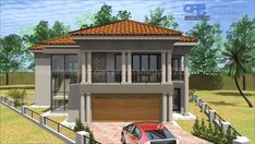 Overall Dimensions- x mBathrooms- 4 Bedrooms- 2 Car GarageArea- Square meters Model House Plan, My House Plans, Family House Plans, Double Storey House Plans, One Storey House, Single Garage Door, Double Garage, House Plans South Africa, Building Costs