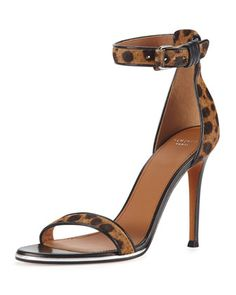 6576b0647e0b9a Shoe of the Day  Givenchy Leopard-Print Calf Hair Ankle-Wrap Sandal