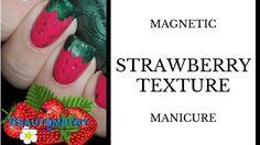 Easy Strawberry Nail Art for Beginners using Masura Magnetic Nail Polish