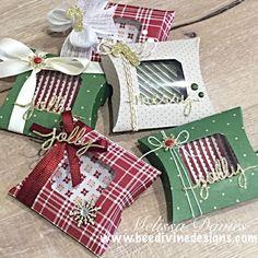 Melissa Davies of bee divine designs.  Square pillowbox die - last years DSP stack. New website: melissadaviesdesigns.blogspot.com.au