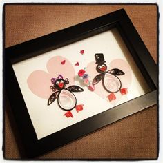 Quilled Love Penguins by jgaCreations on Etsy, $12.00