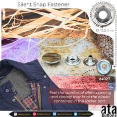 We have created a new snap button model by attaching plastic rings into the socket part that minimizes the opening and closing sound of the socket and the stud intervening into one another. Silent snap fasteners are mainly used for military and hunting materials.  #Textile #atabuttons #snapbuttons #prongsnapbuttons #accesorries #textileaccessories #Turkey #gypsystud #presssnapbuttons