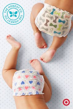 Those super-cute diapers from The Honest Co. now come in two new prints—hearts and bowties. While Honest diapers are adorable, they offer much more for your baby. They're made with hypoallergenic, sustainable materials and are gentle on Baby's sensitive skin.