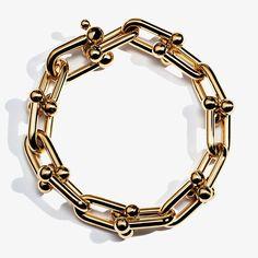 Tiffany HardWear link bracelet in 18k gold.