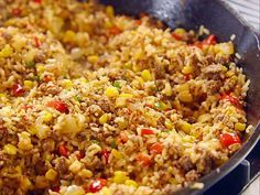 Great one pan meal!!! Pioneer Woman... Ree's Tex-Mex Fried Rice Video :16 minute meal. Food Network - FoodNetwork.com