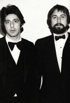 The God Father II. Al Pacino and Robert De Niro ... bow tie tuxedo