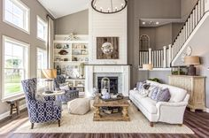 Parade of Homes - Trinity Homes - Two Story Great Room - Fireplace - High Ceilings - Open Floor Plan