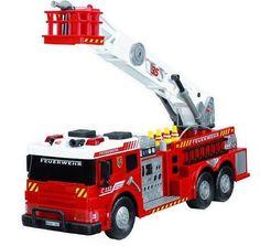 Kids Large Fire Truck Toy Fire Brigade Vehicle W/ Lights Sounds Real Water Pump #KidsLargeFireTruck