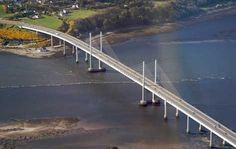 Before the advent of the Kessock Bridge in 1982, there was a ferry crossing from North Kessock to Inverness dating back to early times. It was used by the local farming communities who sold and bought produce in Inverness.  Photo: PDG Helicopters -