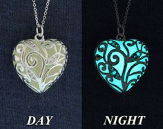 Aqua Glowing Necklace Glowing Jewelry Bridesmaid by EpicGlows