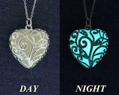 Aqua Glowing Necklace Glowing Jewelry Bridesmaid by EpicGlows