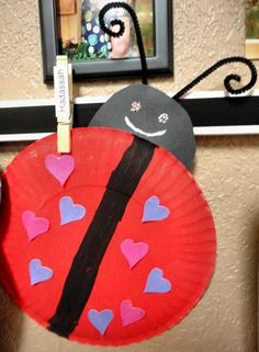 Paper Plate Love Bug Valentines Day craft