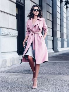 3 Ways To Wear A Pink Coat This Fall