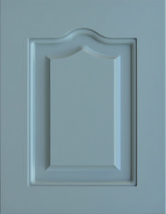 """Castlewood Raised Panel Door  Available Material: MDF Color Shown: Grizzle Gray Paint Available in All Outside Profiles - Shown with 18"""" Roundover Outside Profile Raised Panel Doors, Gray Paint, Face Framing, Custom Cabinetry, Cabinet Doors, Color Show, Profile, Traditional, Contemporary"""