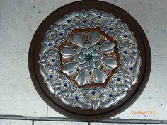 Mandala repujada en aluminio