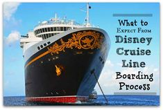 Boarding procedures at Galveston, TX for Disney Cruise Lines.
