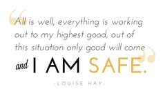 Louise Hay Affirmation that I love! & Check out my interview with @Filippa Svensson