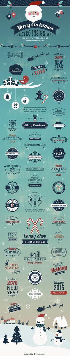 Christmas Insignias Badges