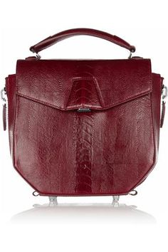 Alexander Wang Devere ostrich-effect leather bag - 60% Off Now at THE OUTNET tagged at The Outnet