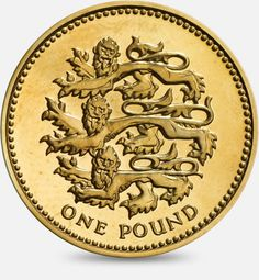 1997 / 2002 Three Lions passant guardant representing England £1 (One Pound) Coin #CoinHunt