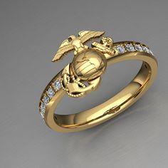 USMC Woman Marines Ring - US Marine Corps Jewelry