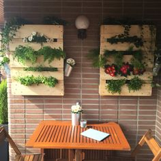 vertical garden jardn vertical reciclaje recycle palets