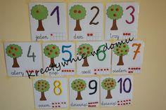 Uczymy się liczyć - karty z cyframi   Kreatywnie w domu