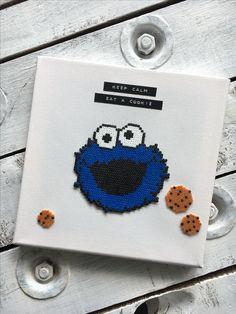 Cookie monster by dassommersprossenmaedchen - perler art beads hama bügelperlen