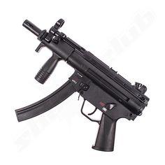Maschinenpistole HK MP5 K Co2 GBB Softair 6mm - 2,5J Airsoft, Heckler & Koch, Mp5, John Wick, Firearms, Skulls, Weapons, Guns, Weapons Guns
