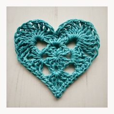 Granny Heart Motif By Crochet Tea Party - Free Crochet Pattern - (ravelry)
