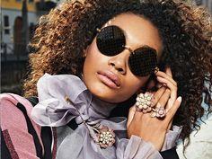 Dolce & Gabbana Eyewear FW 2019 Ad Campaign. #women #sunglasses #eyewear #dolcegabbana #sunglasses #retro #fashion #maxitendance Dolce And Gabbana Eyewear, Round Sunglasses, Sunglasses Women, Retro Fashion, Campaign, Round Frame Sunglasses, Fashion Vintage