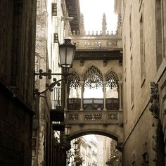 Arches in Barcelona. I remember walking under this...