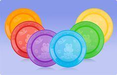 Set de 4 Platos Fun Feeding. ¡Coloridos, divertidos y duraderos! | 9+ meses