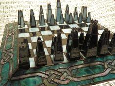 Segunda imagen del ajedrez de vidrio