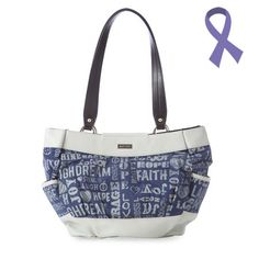 "Miche Demi ""Hope"" Blue - interchangeable purse shell (base bag sold separately). Available for purchase at https://ClaireBee.Miche.com"