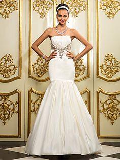 lanting bruid fit& flare petite / grote maten trouwjurk-vloer lengte…