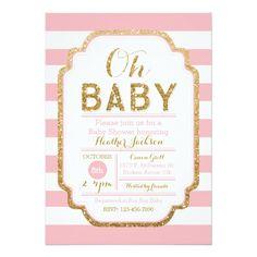 Printable baby shower invitation templates free shower invitations pink and gold baby shower invitation baby girl card filmwisefo
