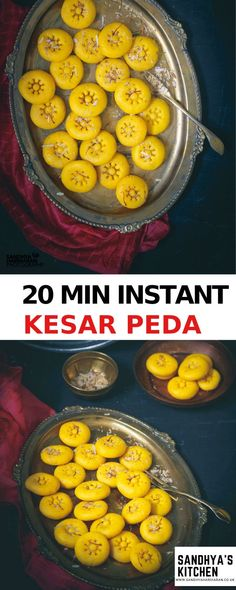 Instant Kesar Peda Recipe – Kesar Peda  is a gloriously popular Indian Dessert that is infused with Saffron. #DIWALI #mithai #sweet #indiansweet