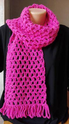Crochet Kids Scarf, Crochet Scarves, Easy Crochet, Crochet Hats, Crocheted Scarf, Granny Square Crochet Pattern, Crochet Ripple, Freeform Crochet, Crochet Dishcloths