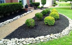 Image of: Landscape Types Of Landscaping Rock With Gravel Decorative Intended For Gravel Landscaping Ideas Gravel Landscaping Ideas Fresh Rock Mulch, River Rock Landscaping, Gravel Landscaping, Cheap Landscaping Ideas, Landscaping With Rocks, Modern Landscaping, Front Yard Landscaping, Backyard Ideas, Landscaping Design
