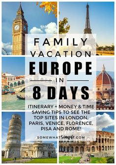 Family Vacation to Europe - Tips and tricks on how to plan, how to save money and how to do it in only 8 days!