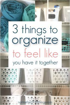 Organization Ideas hacks the secret to feeling like a more organized mom feel more organized right away with these three easy organization ideas. get organized fast with these organization hacks for busy moms. Linen Closet Organization, Home Organization Hacks, Organizing Your Home, Kitchen Organization, Organizing Ideas, Decluttering Ideas, Organising Tips, Organized Mom, Getting Organized