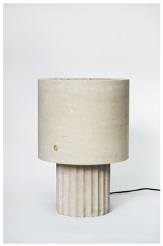 Max Lamb, Small Portland Limestone Lamp, 2014, Johnson Trading Gallery