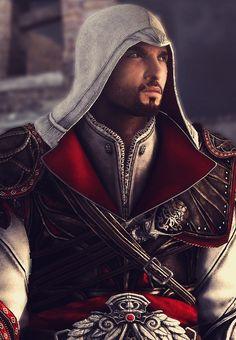 Ezio Assassin's Creed Brotherhood- LOVE THIS GAME!!! I feel like spiderman/tarzan sometimes when I play it XD