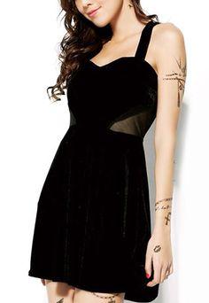 $27.99 USDClubwear Black Mesh Backless Bustier Dress Crisscross Sundress