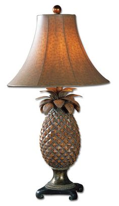 Buy the Uttermost 27137 Brown Glaze, Bronze Accents Direct. Shop for the Uttermost 27137 Brown Glaze, Bronze Accents Anana Pineapple Table Lamp and save. Tropical Table Lamps, Unique Table Lamps, Tropical Decor, Coastal Decor, Tropical Furniture, Tropical Interior, Coastal Cottage, Coastal Living, Pineapple Lamp